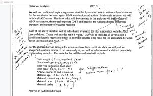 First Draft Analysis plan segment 1